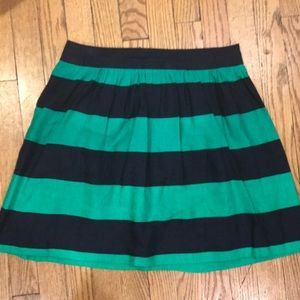Banana republic Blue and green striped linen skirt